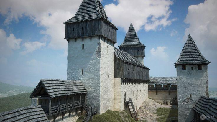 Szigliget Castle - 3D reconstruction by Pazirik