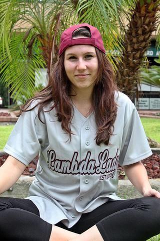 LTA Lambda Lady Baseball Jersey   Lambda Theta Alpha