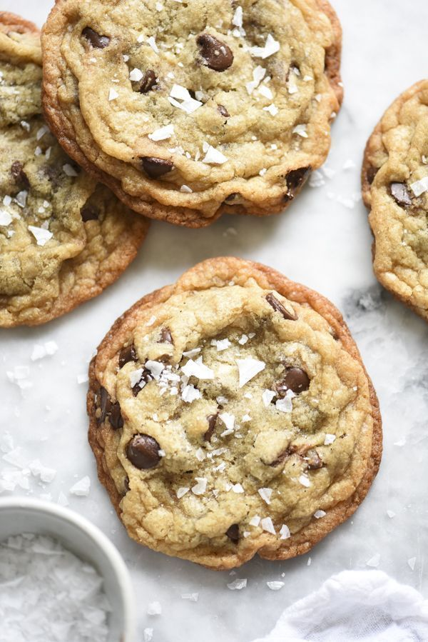 Salted Milk Chocolate Chip Cookies | foodiecrush.com