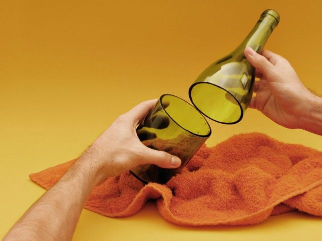 Follow this DIY to repurpose an empty wine bottle into a tumbler.