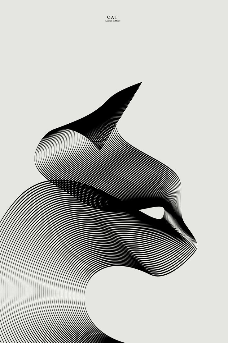 Milan-based designer Andrea Minini (previously) just shared his third series of animal illustrations where he challenges himself to create the familiar forms of mammals, birds, and fish using the effect of moiré patterns.
