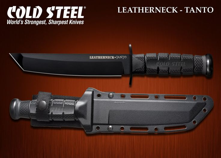 Cold Steel Leatherneck Tanto Fighting Knife w Secure EX Sheath 39LSFT New | eBay