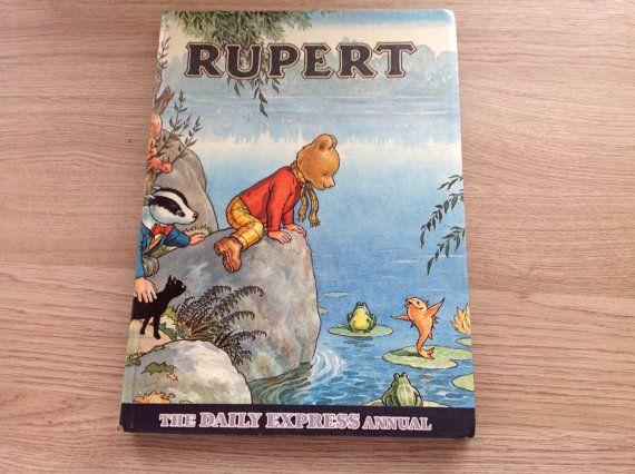Rupert Bear Annual 1969, English children's book on Etsy, £25.00