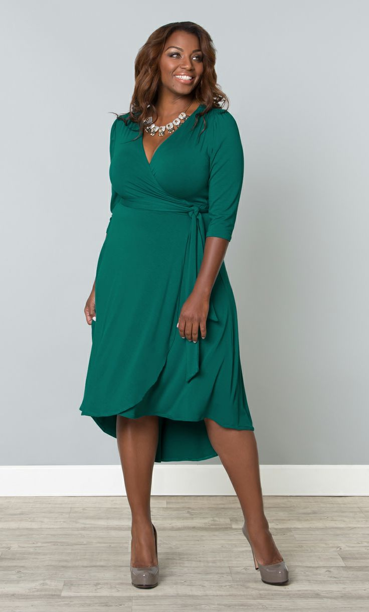 Feel ultra feminine in our plus size winona wrap dress for Size 12 dresses for wedding guests