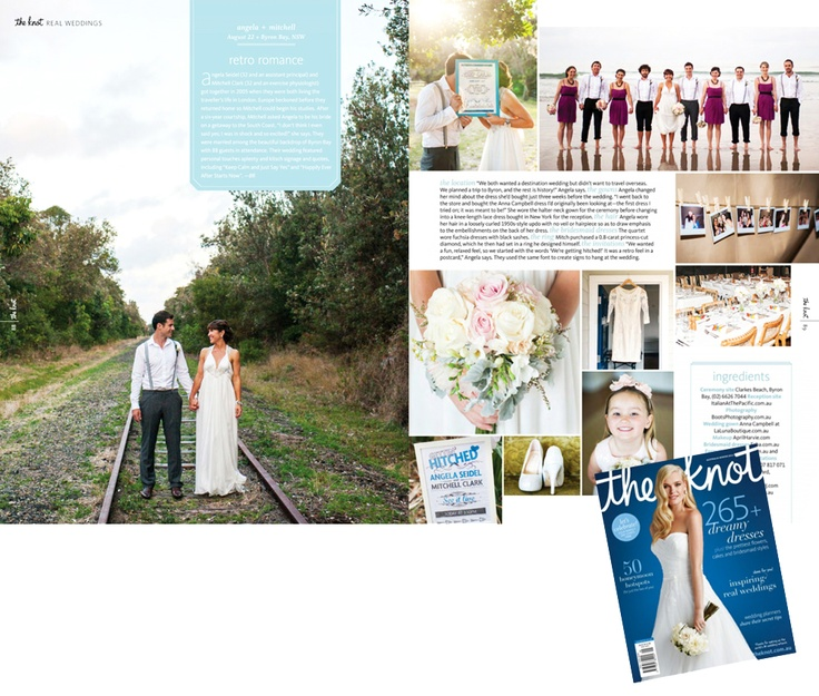 The Knot Australia Magazine – Winter Edition | Byron Bay weddings | Angela & Mitch Wedding Photography by Brisbane Wedding Photographer Boots Photography