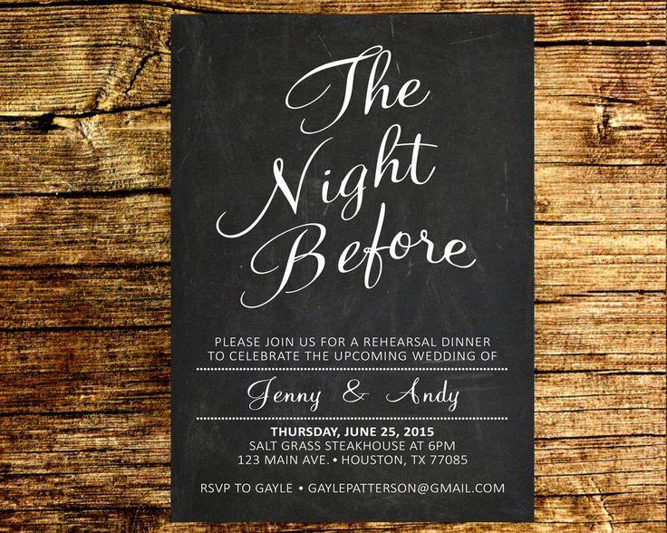 Pre Wedding Dinner Invitation: 1000+ Ideas About Night Before Wedding On Pinterest