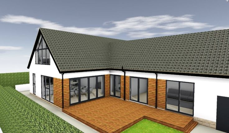 Mixture of brick and render could be the better option for us... keeping some of the brick would save having to render or clad the back of the house.