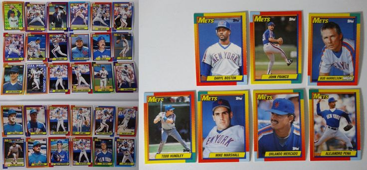 1990 Topps New York Mets Team Set of 37 Baseball Cards With Traded #topps #NewYorkMets