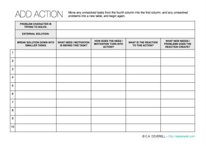 This writing worksheet helps you create self-perpetuating ACTION in your story! >  http://eadeverell.com/writing-worksheet-wednesday-add-action/?utm_content=buffer03a47&utm_medium=social&utm_source=pinterest.com&utm_campaign=buffer