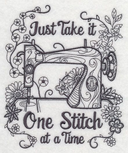 One Stitch At A Time design (M7284) from www.Emblibrary.com