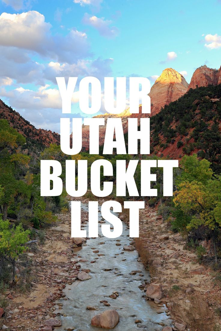 Utah Bucket List