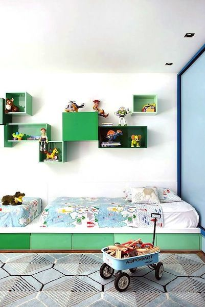 fresh blue and green color palette and adventure inspiration | 10 Best Kids' Rooms | Camille Styles