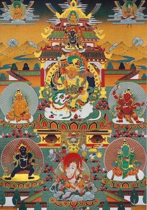 Vaishravana and five Jambhala