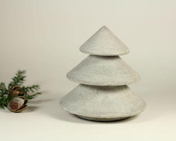 Concrete Christmas Tree. $42.00, via Etsy.