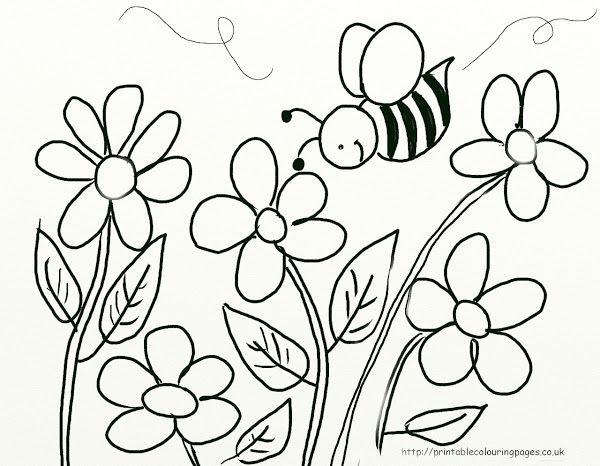 18 Riscos De Abelhas E Flores Desenhos Para Colorir Com Imagens