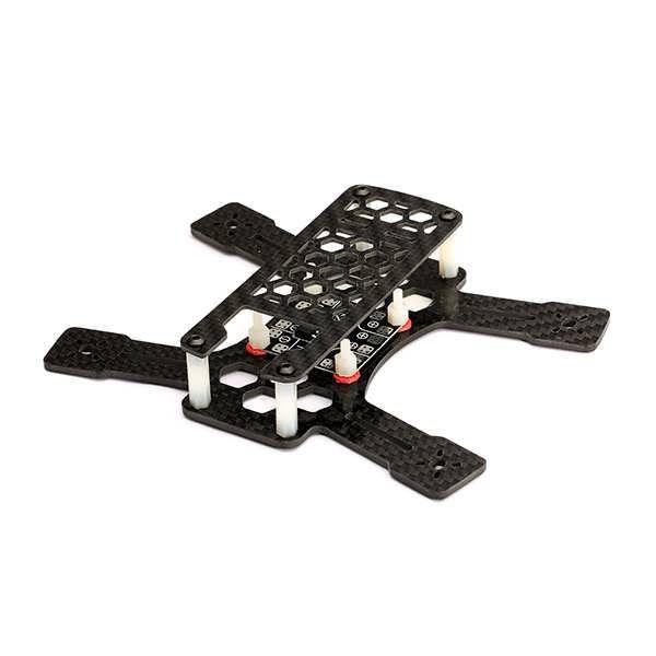 """Diatone Spadger 150 Carbon Fiber Quadcopter Frame Kit w/ V3.1 BEC Power Distribution Board              Description:  Brand: Diatone  Item name: Spadger 150 Frame Kit  Material: carbon fiber  Width: 150mm  Lower board: 2.5mm  Propeller: 3"""" (76mm)  Weight: 42g  Motor mount..."""
