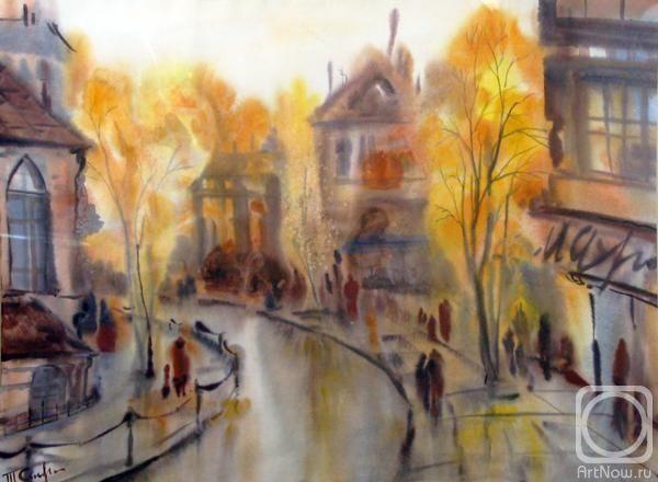 Картина «Осень в городе»   Краска, Картины и Искусство
