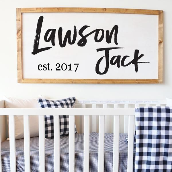 This custom name vinyl decal is the perfect addition to your nursery! We love showing off the name you picked for your little one above the crib or on the wall.