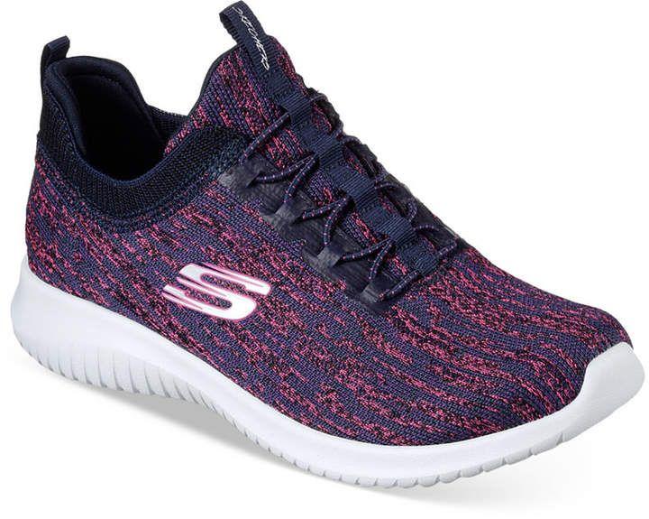 Skechers Women S Ultra Flex Bright Horizon Walking Sneakers From