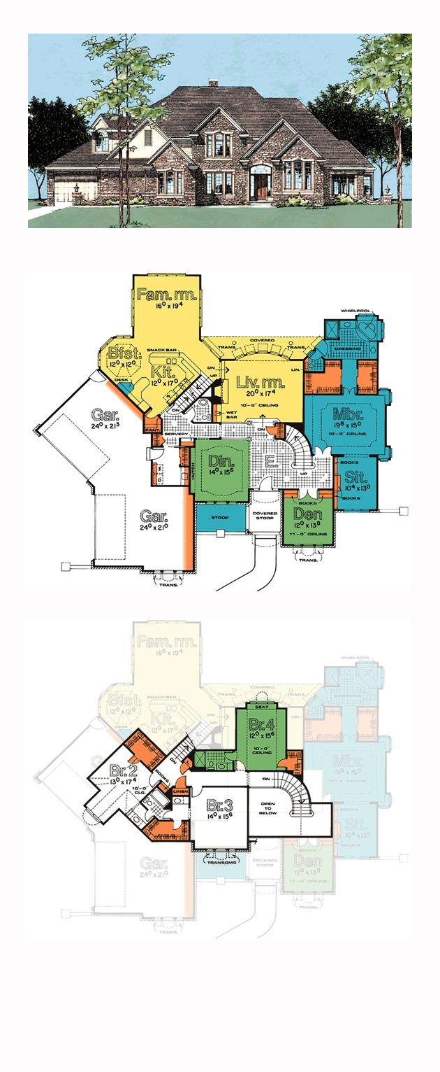 European House Plan 99402 54 best Luxury