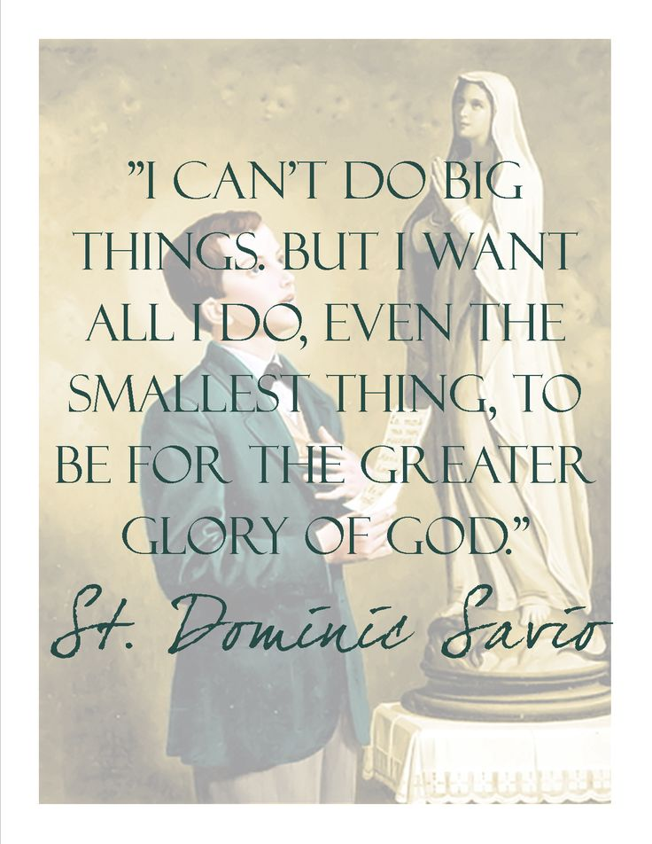 St. Dominic Savio, pray for us. #catholic