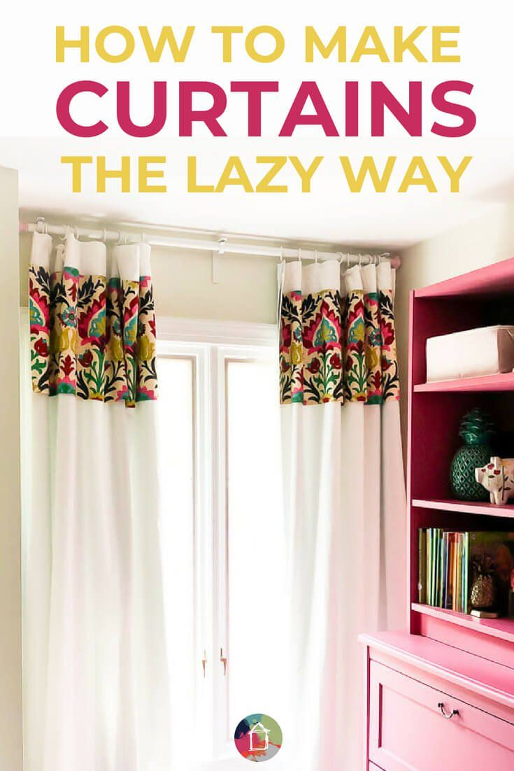 How To Make Curtains The No Sew Lazy