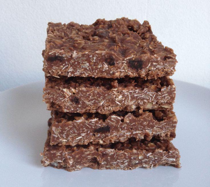 No bake chocolade havermout repen
