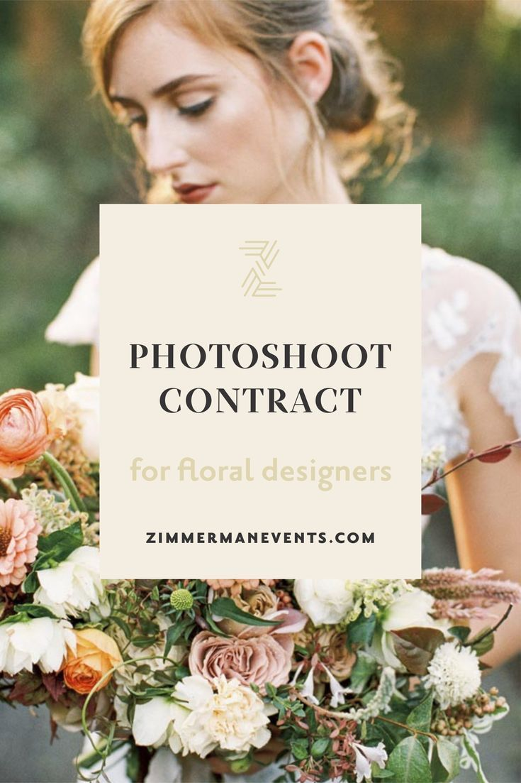 "Photoshoot contract template for floral designers | Zimmerman Events How many times have you been asked to participate in a photoshoot? How many times have you spent lots of your own money on floral arrangements and bouquets only to wonder, ""When am I going to get those photos?""  Worry no more, in this download I'm sharing with you the exact contract I use for every photoshoot, why it's CRUCIAL to have one, and why I never do a shoot without it. #weddingflowers #photoshoot #floral #floraldesign"