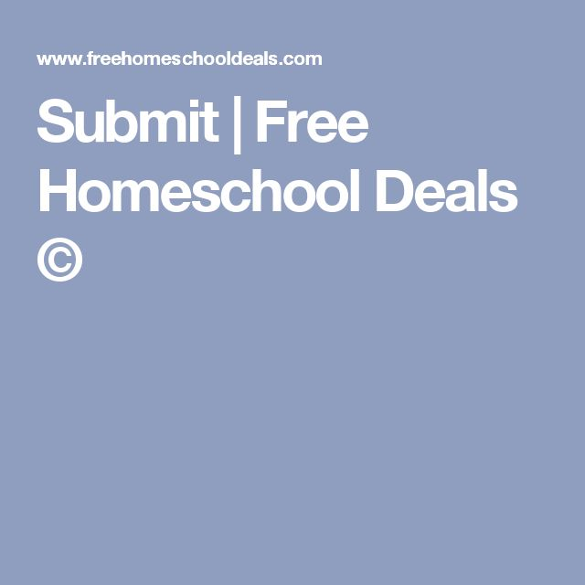 Submit | Free Homeschool Deals ©