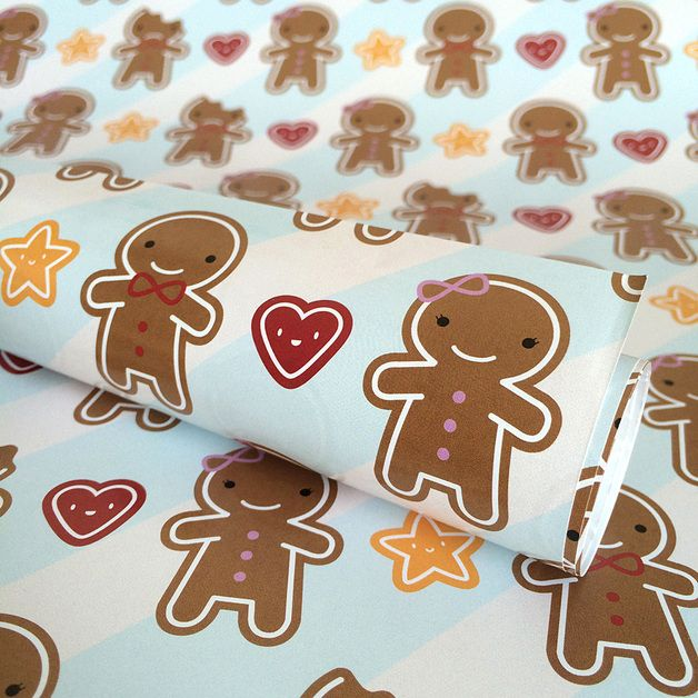 Spice up your gifts with these cute cookies!  Each sheet features a full colour repeat of a cute gingerbread boy and girl with hearts and stars, and a few sad bitten cookies too! A pale blue...
