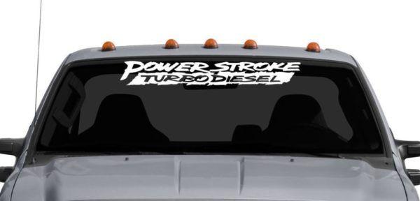 Ford Power Stroke Diesel Windshield Banner Decal Sticker Custom Sticker Shop Powerstroke Powerstroke Diesel Windshield