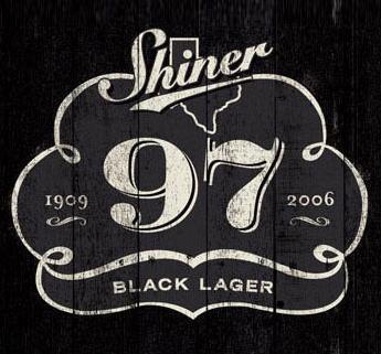 Shiner 97 Black Lager label