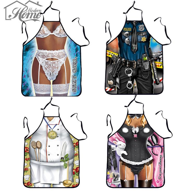 Funny Cooking Kitchen Apron Sexy Dinner Party Apron delantal cocina aprons for woman and man delantales BBQ Cartoon Aprons