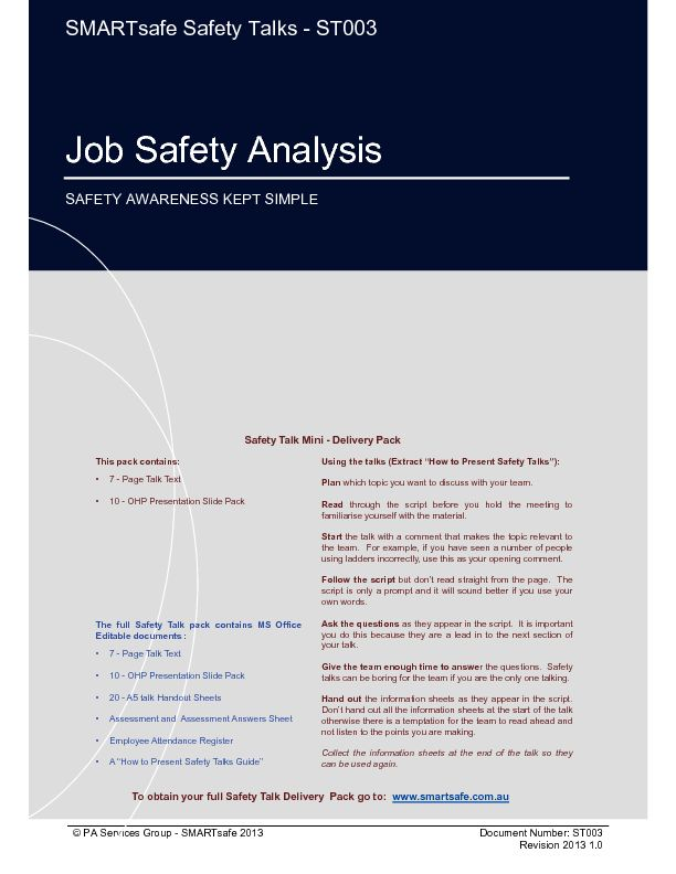 128 best Safety Engineering images on Pinterest Safety, Health - job safety analysis form template