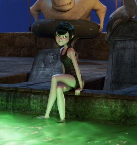 mavis dracula at the pool