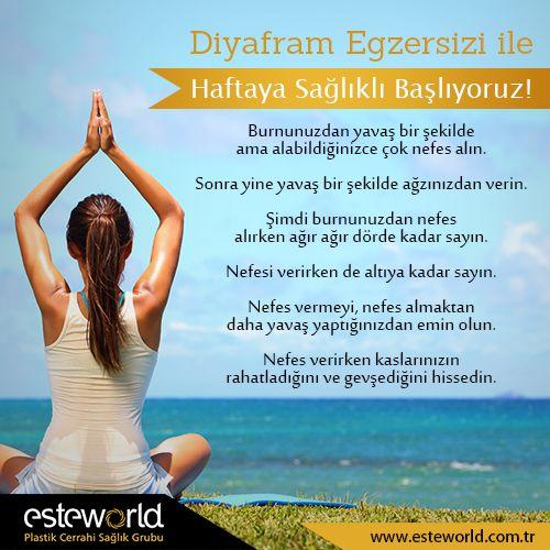 Diyafram egzersizleriyle bağışıklık sisteminizi güçlendirebilirsiniz.  #esteworld #nefes #diyafram #sağlık #happy