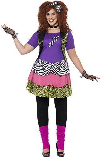 9f6069459942b Plus Size 80s Fancy Dress Costume for Women. UK sizes 16 to 30 available.