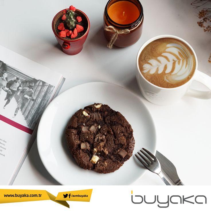 Yeni haftaya başlarken en sevdiğiniz kahveye Triple Chocolate Cookie eşlik etsin. Mutlu haftalar… :) #BuyakaBiBaşka #Pazartesi #Kahve #Sağlık #Mutluluk #BuyakaAvm