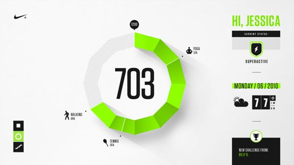 Nike Fuel Design Exploration by Brantley Barefoot