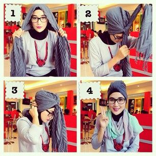 Turban+tutorial  Hijab  Pinterest  Turban tutorial