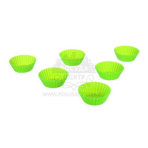 Миниформы для выпечки Кексы Marmiton, зеленый, силикон