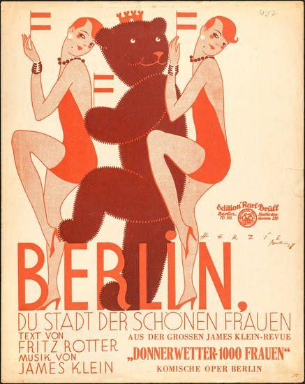 Berlin, du Stadt der schönen Frauen! Musikalien, Rotter, Fritz, Klein, James, 1928
