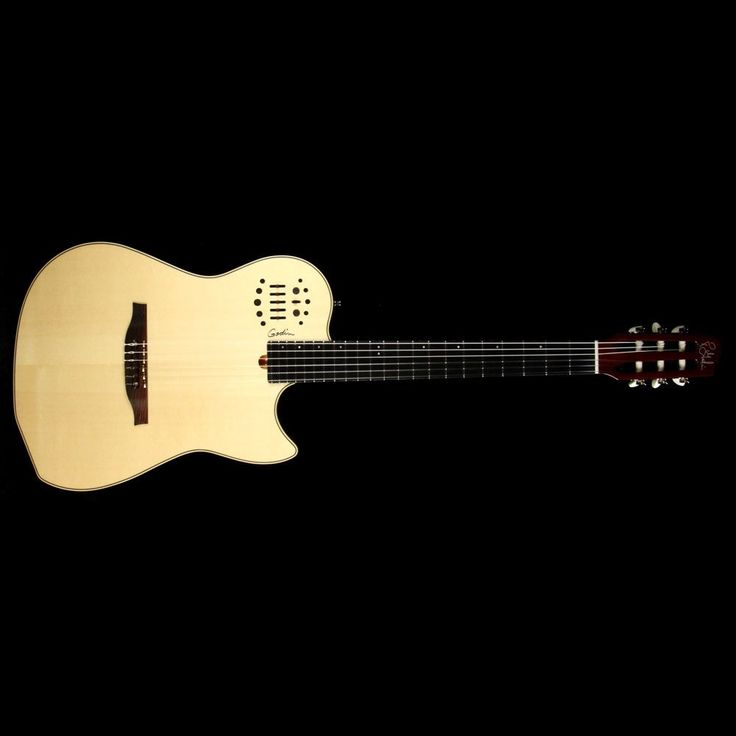 Godin MultiAc Nylon String Acoustic/Electric Guitar Natural – The Music Zoo
