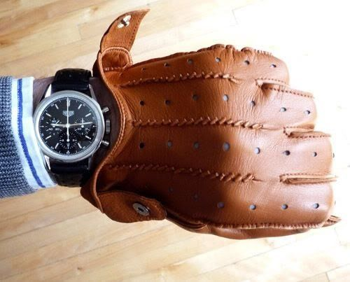 Tag Heuer x Leather gloves