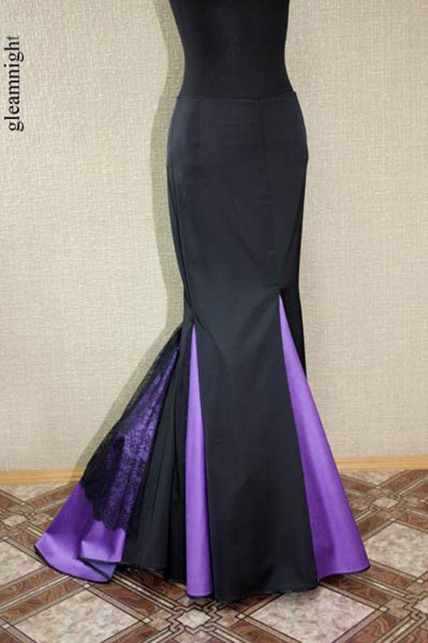 юбка-годе, вечерняя юбка, готическая юбка, акция сегодня