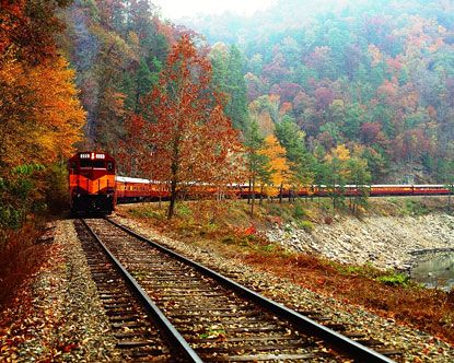 Great Smoky Mountain Railroad excursions offer incredible diversity in trip combinations, vacation packages, and seating options, not to mention one of the most amazing and pristine scenic backdrops on the East Coast. The official departing point is for a Great Smoky Mountain train ride is where Bryson City meets the edge of the Great Smoky Mountains National Park