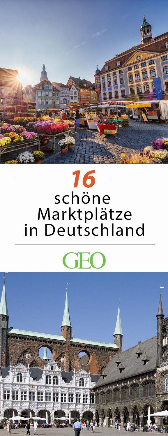 Einen zentralen Marktplatz hat fast jede deutsche Stadt. Doch einige Orte verfügen über so pittoreske Plätze, dass wir sie Ihnen nicht länger vorenthalten möchten. Wir stellen Ihnen 16 der schönsten Marktplätze in Deutschland vor - einen pro Bundesland