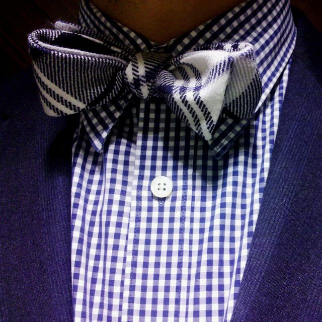i love matching patternsMen Clothing, Bows Ties, Purple, Pattern, Bow Ties, Men Style, Men Fashion, Bowties, Blue Gingham