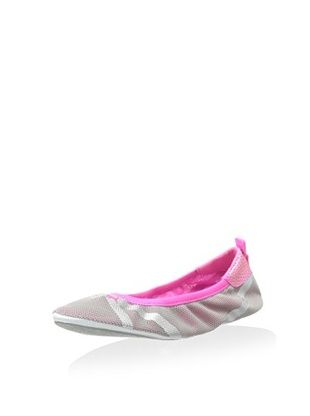 40% OFF PUMA Women's Axel Metallic Ballet Flat (Limestone Silver/Pink)