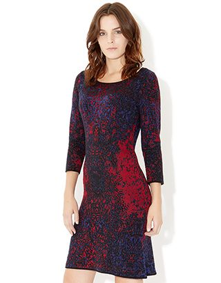 Elizabeth Jacquard Fishtail Dress